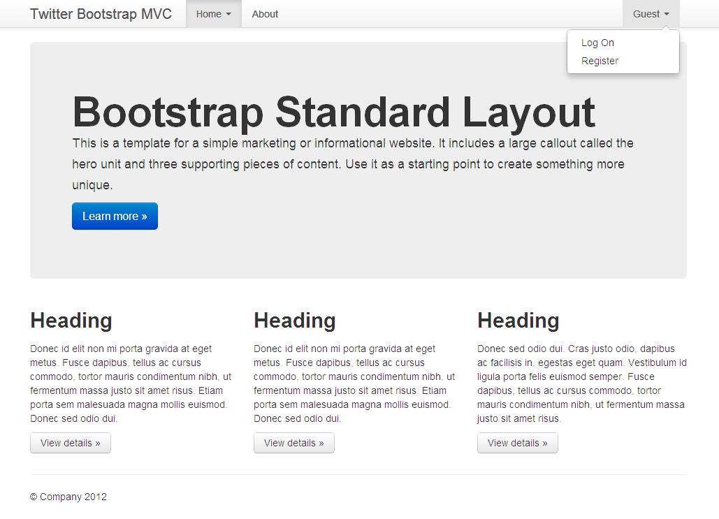 Twitter Bootstrap MVC - Visual Studio Marketplace